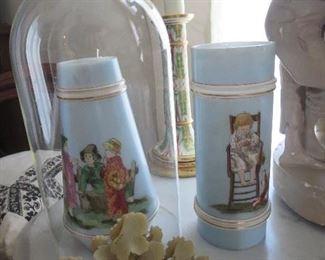 Pair of Wonderful Bristol Vase with Children Motif's