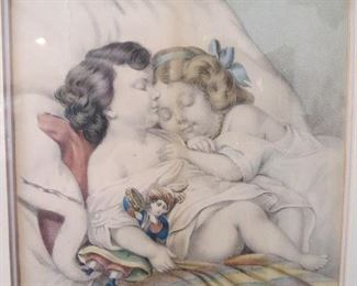 Our Pet Currier and Ives Print Original
