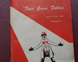 """1961 Fair Grove Lions """"Fair Grove Follies"""""""