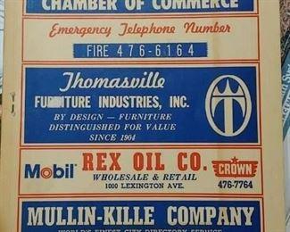 Vintage Thomasville, N.C. Directory