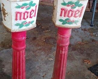 Blow Mold Noel Lamps