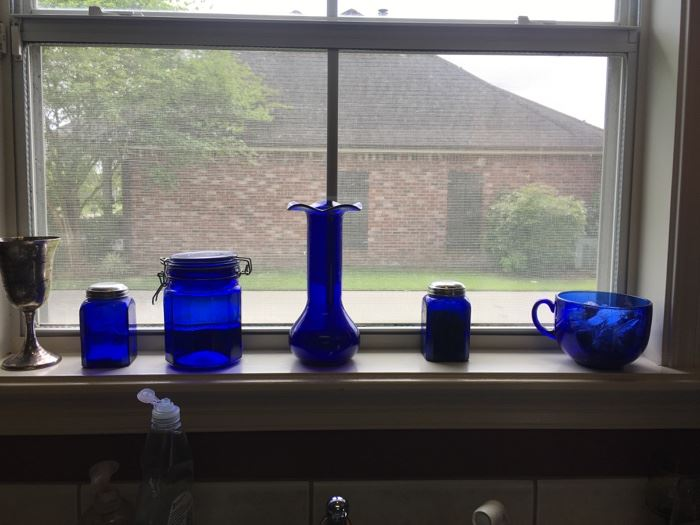 nice cobalt blue glass