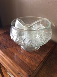 nice punch bowl and cups