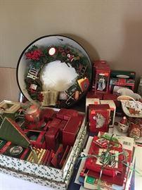 Lots of Hallmark Christmas ornaments