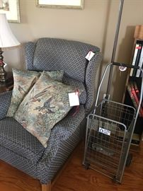 nice recliner and grocery cart