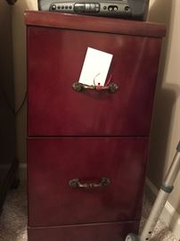 super clean 2 drawer wood file cabinet