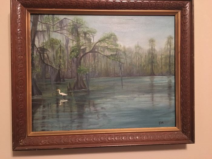 original oil painting, Judy Mathieu, Houma, La.