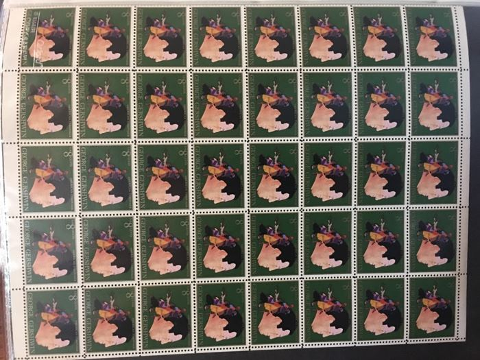 George Gershwin 8 cent stamp numbered page