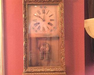 Antique wall clocks, clock