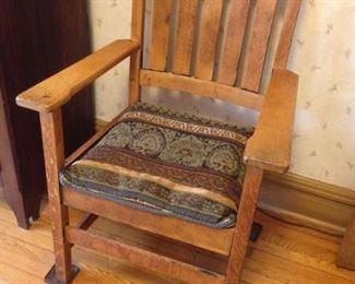 Mission oak chair