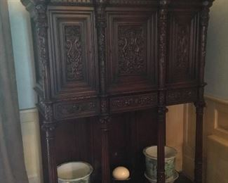 """French Gothic Revival cabinet 55""""W x 25"""" D x 86""""H"""