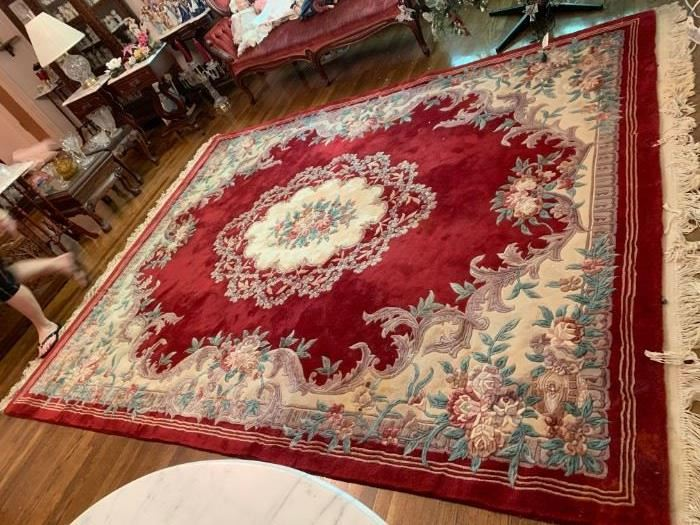 #8 8x10 Asian Red & Cream Hand-knotted  $ 175.00