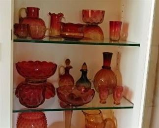 Beautiful art glass collection