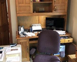 computer/office work desk oak