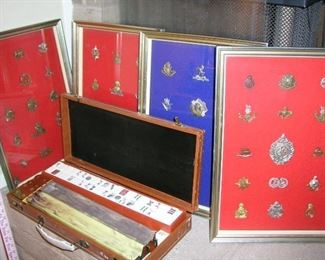 Great assortment of authentic British, Russian and more wartime pins! Mahjong game too!