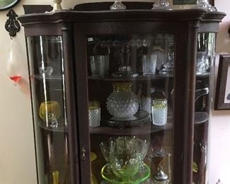 Antique China cabinet with antiques