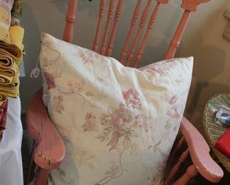furniture rocker pink