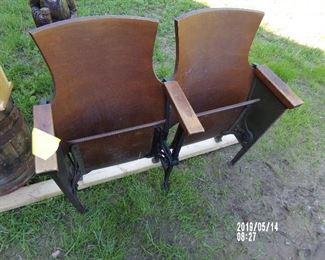 Cast Iron Base Wood Theater Seats
