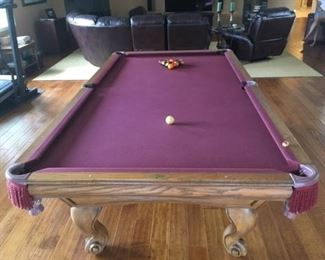 9' x 5' a 3-slate pool table. Price is set by owner at $1200