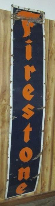 8' Porcelain Firestone Sign