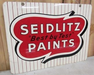 "1973 Metal 24"" Double Sided Seidlitz Paints Sign"
