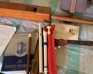 Recorders and old organ bellow