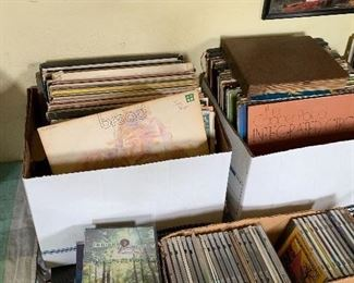 Record albums, cd's, videos.