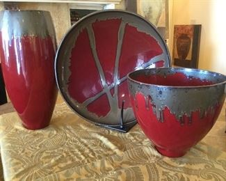 Large decorator pottery  - Made in Italy