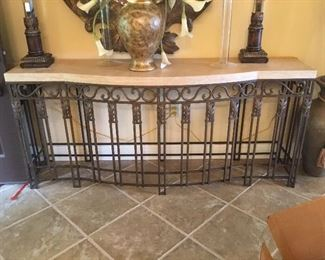 Large marble top entry table - size to follow