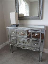 Terrific mirrored storage chest - modern yet vintage feeling!