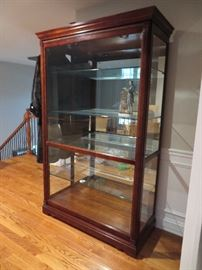 INCREDIBLE!!  Howard Miller display cabinet - front slides for easy display and cleaning.