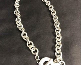 B030 Tiffany  Co Sterling Link Chain