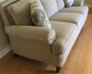 Side view of sofa