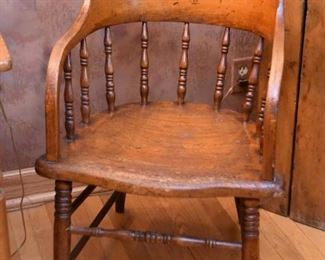 Antique Wood Spindle Chair