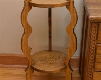 Oak Plant Stand / Display Pedestal