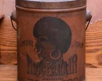 Black Americana Tobacco Tin