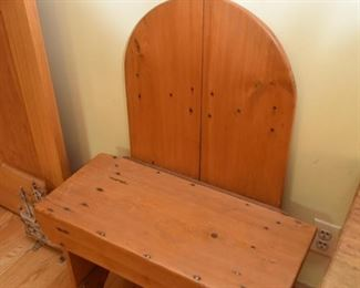 Primitive Bench with Arched Backrest