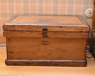 Primitive Wood Chest / Trunk / Box