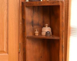 Primitive Wood Corner Shelf