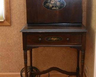Antique Drop Front Music Cabinet