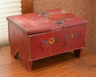 Primitive Shoe Shine Box