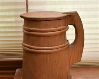 Primitive Wood Covered Mug / Stein (Treenware)