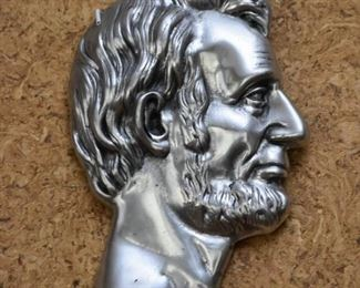 Metal Abraham Lincoln Profile Wall Hanging