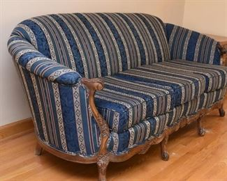 3-Seat Traditional Sofa with Carved Details