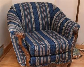 Matching Traditional Chair with Carved Details