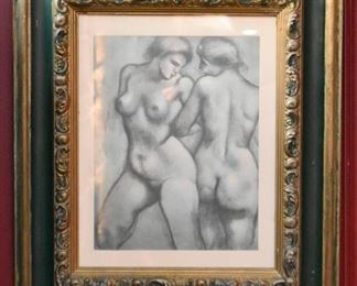 Framed Nude Artwork