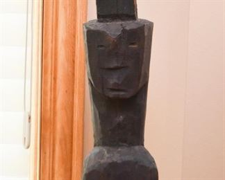Primitive Folk Art Wood Carving / Sculpture