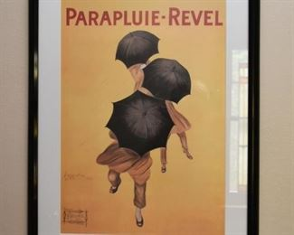 Framed French Advertising Print