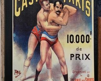 Reproduction French Boxing Tin Sign