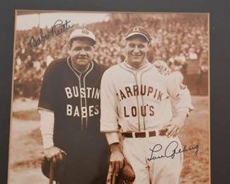 Sports Photographs / Memorabilia (Babe Ruth & Lou Gehrig)